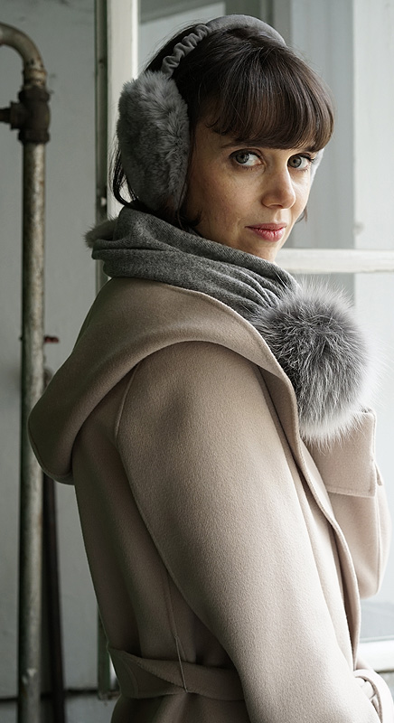 Ohrenschützer und Pit, die Schal-Mütze, passen super zusammen.