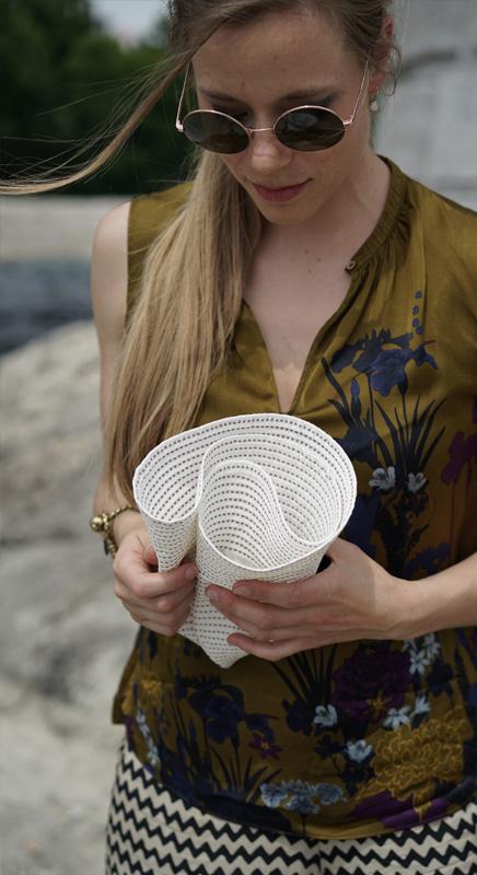 Rollhut aus Baumwollgewebe. Ideal für die Badtasche.